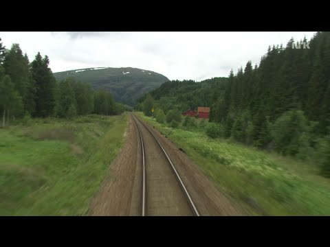 [9:56 Hours] Train Journey to the Norwegian Arctic Circle, SUMMER [1080HD] SlowTV