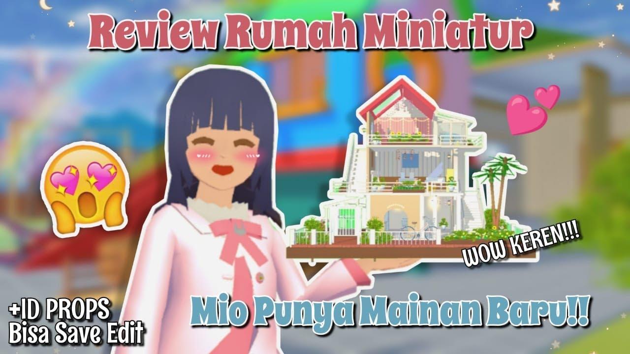 MIO PUNYA MAINAN BARU?!! Review Rumah Miniatur Mio, KECIL BGT!! + ID   Sakura School Simulator