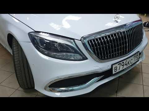 Установка фар от Mercedes-Bensz W222 в Мерседес W220 S-Klass
