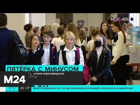 В российских школах зафиксированы единичные случаи заражения COVID-19 - Москва 24