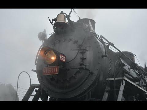 Steam Train In The Rain - Southern 4501