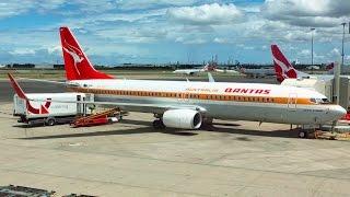 "Qantas Business Class - B737-800 - ""Retro Roo"" - Brisbane to Sydney - Flight Report"