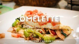 Omelette Con Claras De Huevo Receta Saludable Y Baja En Calorías Youtube