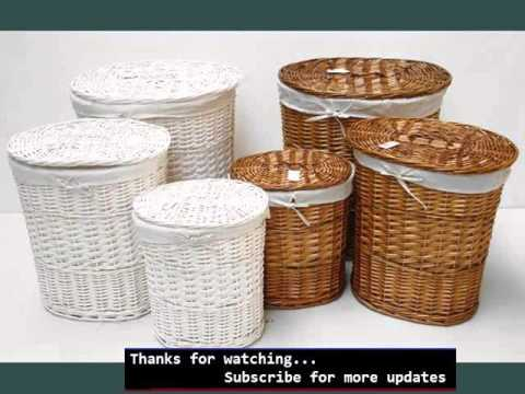 laundry baskets ideas wicker laundry basket youtube. Black Bedroom Furniture Sets. Home Design Ideas