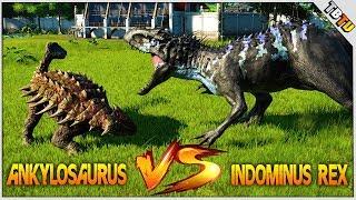 INDOMINUS REX VS ANKYLOSAURUS! EPIC BATTLE! Jurassic World Evolution Dinosaur Battles E8