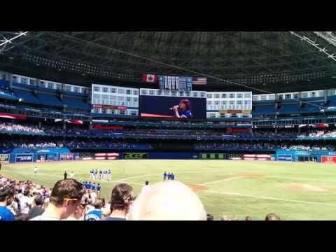 Jess Moskaluke Sings Anthems at Blue Jays Game