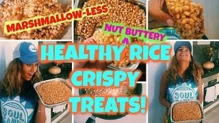 Healthy Rice Crispy Treats!! // Healthy Kiddo Snacks! :)