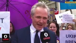UKIP Leader Richard Braine on talkRADIO outside Parliament