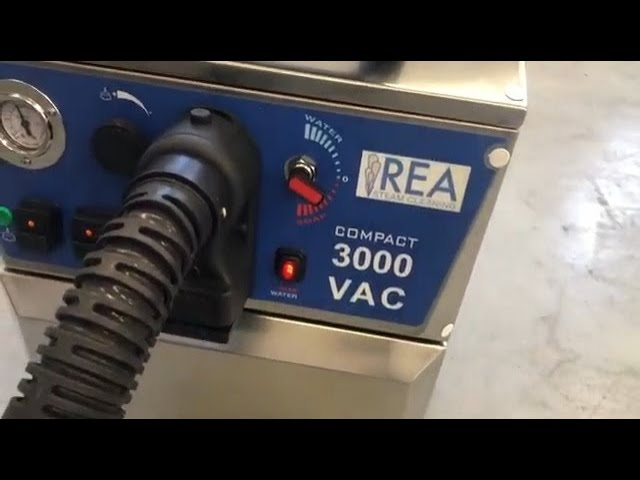 Installation and startup of SATURNO COMPACT 3000 VAC - REA STEAM CLEANING SOLUTIONS