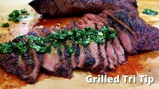 Grilled Tri Tip on Big Green Egg  Grilling Tri Tip Recipe Malcom Reed HowToBBQRight
