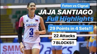 Jaja Santiago 29 Points FULL HIGHLIGHTS | Foton vs Cignal | PSL AFC 2019