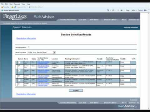 how to sign up for classes on webadvisor