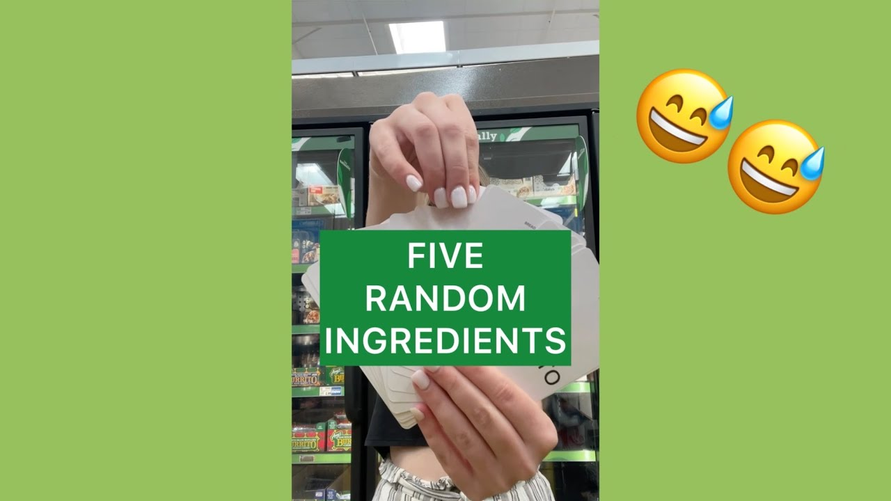 Cooking With Five Random Ingredients!! (FOOD CHALLENGE) #SHORTS