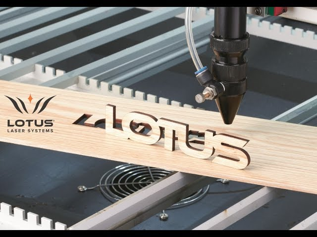 Lotus Laser Systems Blu125 200w DC laser cutting 5mm oak