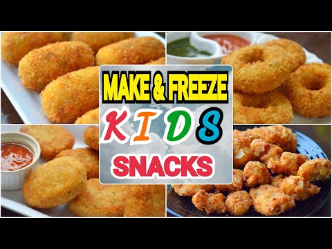 4 MAKE & FREEZE KIDS SNACKS 2019 BY (YES I CAN COOK) #ChickenDonuts #Nuggets #Croquette