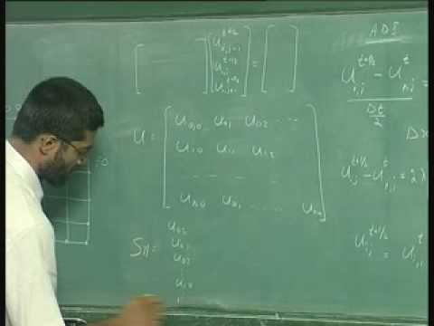Lecture - 36 The Crank - Nicholson Scheme For Two Spatial