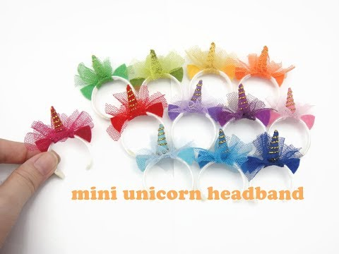 DIY Miniature Doll Mini Unicorn Headband - Easy!