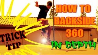 ☺How to Backside 360 trick tip☺