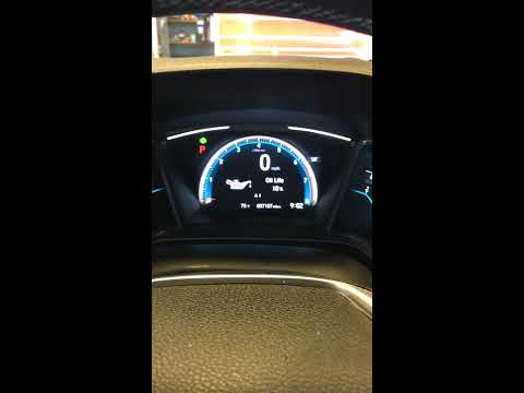 How To: 2017 Honda Civic service light Maintenance