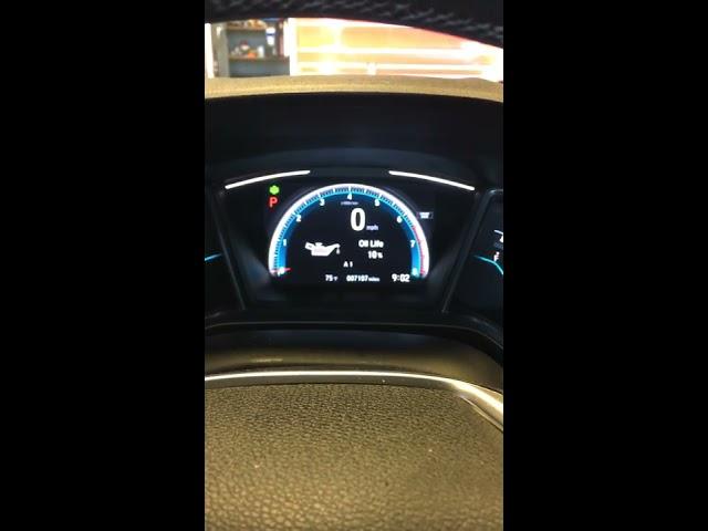 How To: 2017 Honda Civic service light Maintenance