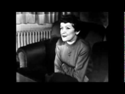Edith Piaf - Interview par Pierre Tchernia 1958