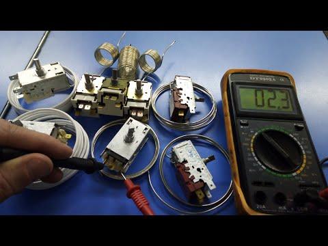 к59 Как проверить K-59 прозвонить термостат терморегулятор холодильника Стинол принцип действия