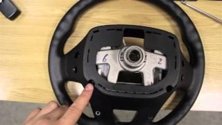 Kia Rio обтягиваем руль кожей, ставим кнопки