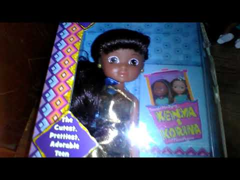 Teen Kenya and mini beautiful hairstyling Kenya dolls