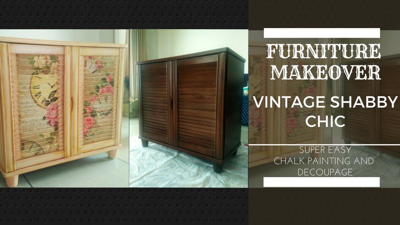 Diy Decoupage Amp Chalk Paint Furniture Makeover Vintage
