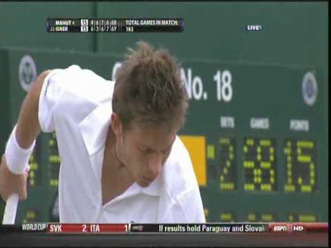 John Isner & Nicolas Mahut Longest Match Ever 11 Hours Wimbledon Round 1 2010 5th set 70-68