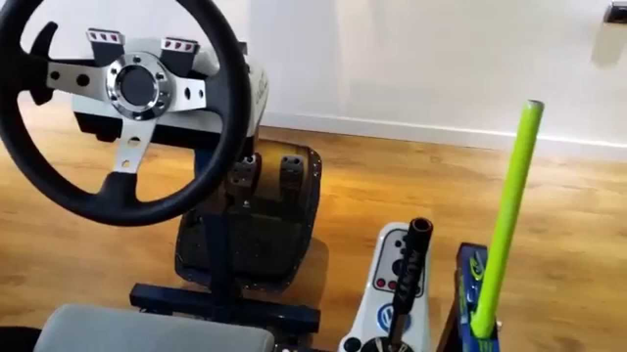 2014 Logitech G27 Cockpit Casero Handbrake Secuencial