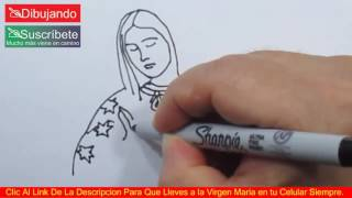 Cómo Dibujar a La Virgen María - How To Draw Virgin Mary | Dibujando