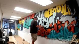 BOSSCUTZ barbershop wall art by EAST3