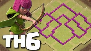 Layout War Base Th6/Cv6 Atualizado 2016 - Clash of Clans