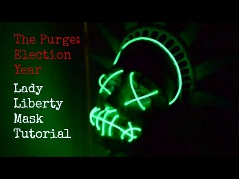 The Purge: Election Year - Lady Liberty Mask Tutorial