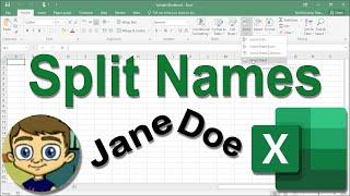 Excel Split Names Tutorial 2017