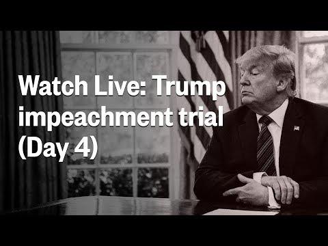 Senate Impeachment Trial Of President Trump | Friday, January 24 | NBC News (Live Stream)