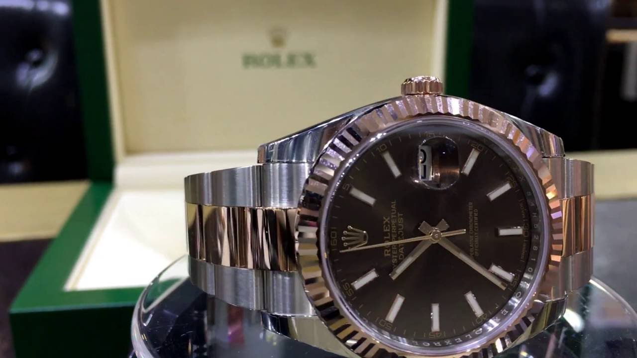 ce6cf27f3a478 Rolex Datejust II 126331 - YouTube