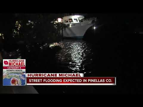 Street flooding expected in Pinellas Co. due to Hurricane Michael