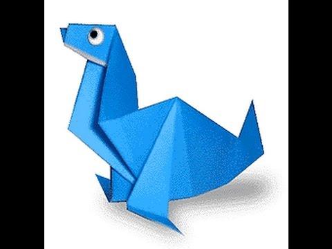 origami seal. оригами морской
