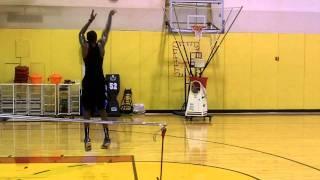 Miami Heat's James Jones training on shooting machine