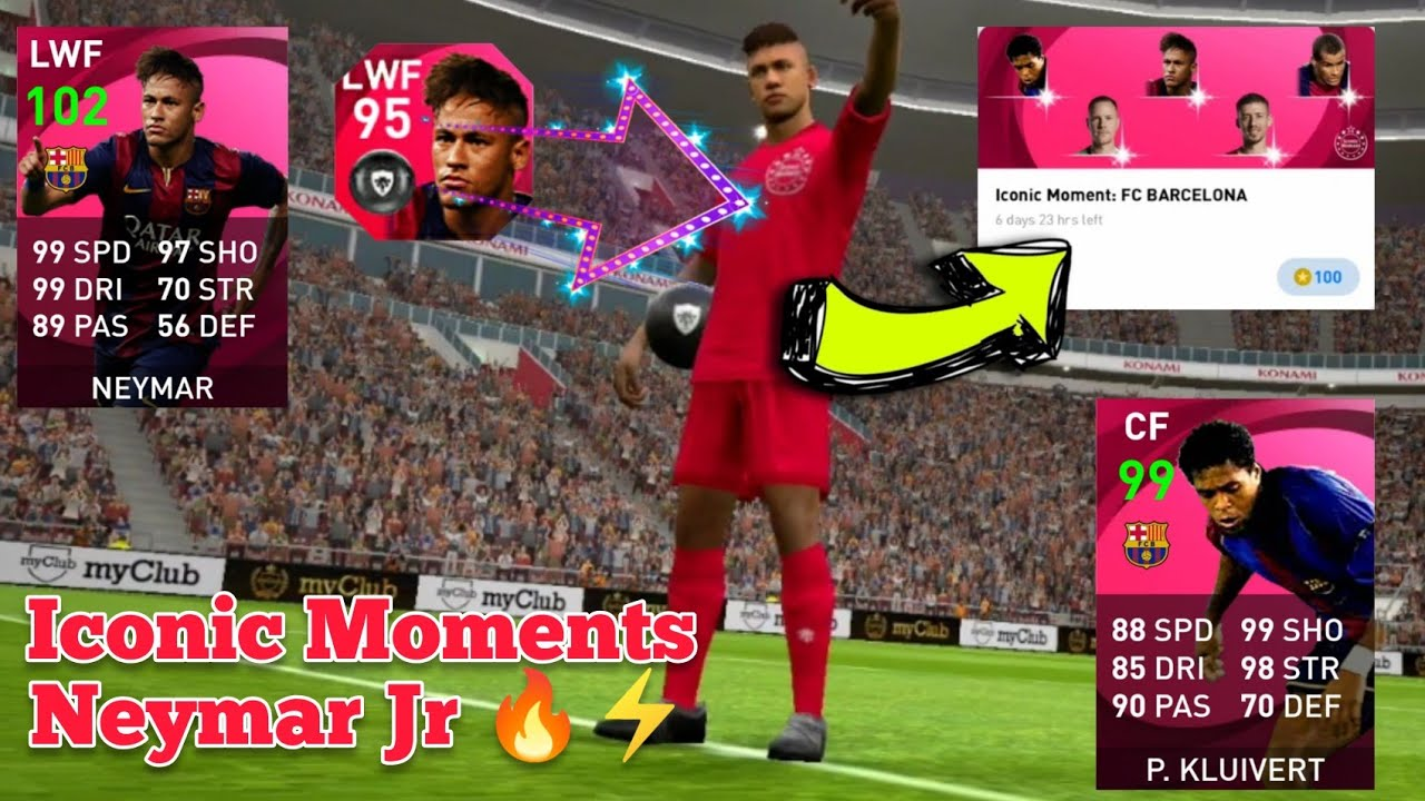 Iconic Moments Neymar Jr Trick From Barcelona Iconic Pack In Pes 2021 Mobile