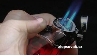 Triple tryskový zapalovač s LED