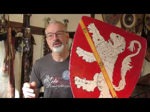 Medieval Combat With Triangle Shields
