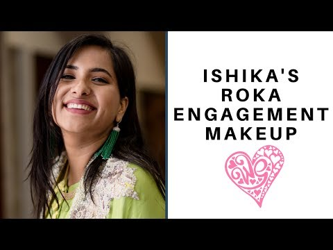 Ishika's Roka/Engagement Makeup | Behind the scenes