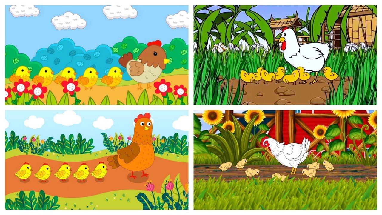 เพลงไก่ กุ๊ก กุ๊ก ไก่ 4 แบบ 4 ครอบครัวไก่   แอนนิเมชั่นน่ารักน่าชัง