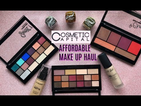 DRUGSTORE/AFFORDABLE MAKE UP HAUL + TRY ON   Cosmetic Capital