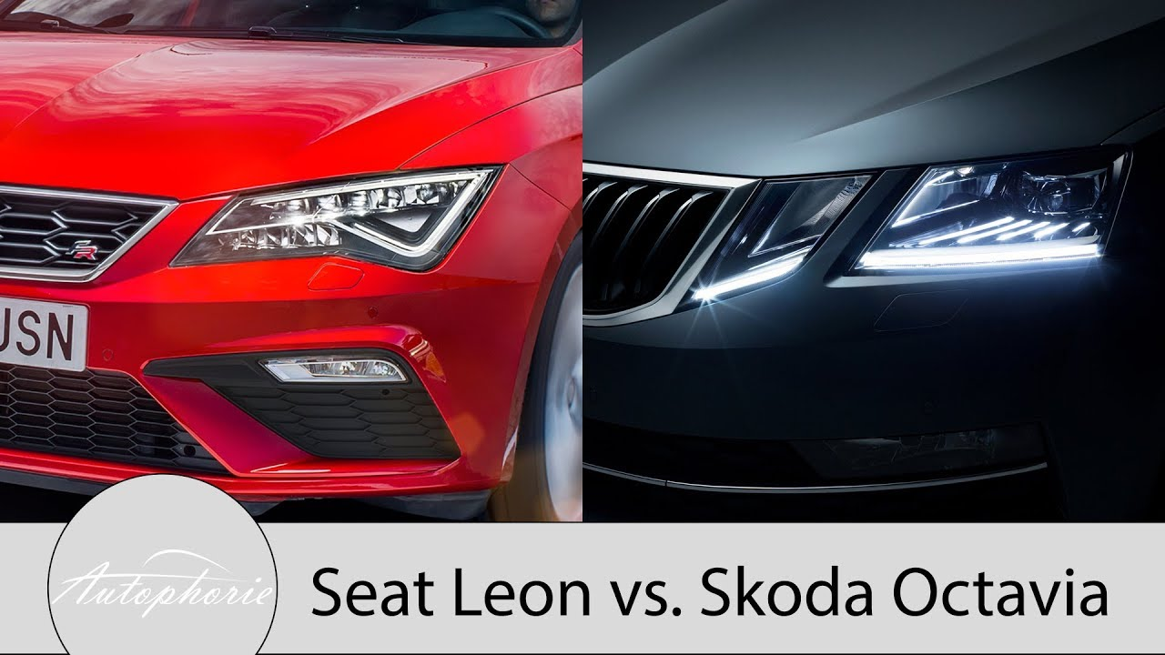 skoda octavia led scheinwerfer vs seat leon led. Black Bedroom Furniture Sets. Home Design Ideas