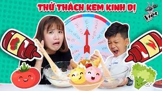 THỬ THÁCH VÒNG XOAY KEM KINH DỊ CÙNG MINH CHIẾN THE VOICE KID 2018 | Ai sẽ ăn kem trộn tương ớt ?!?