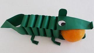 Origami Crocodile : DIY Paper Crocodile Tutorial | School Craft Project Idea |  Kids Paper Craft